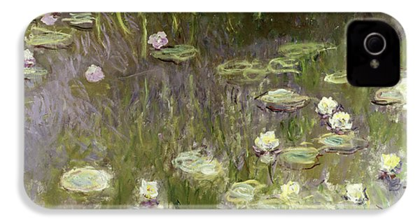 Waterlilies At Midday IPhone 4 Case by Claude Monet