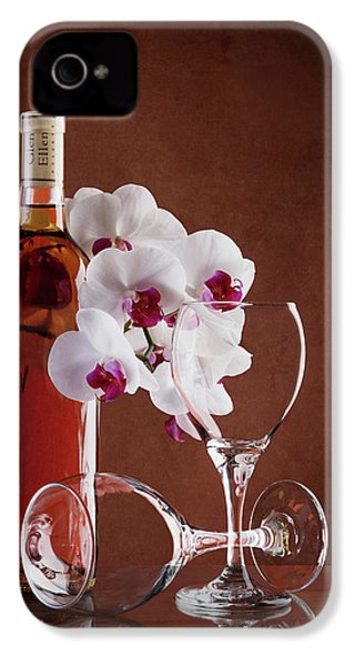 Wine And Orchids Still Life IPhone 4 Case