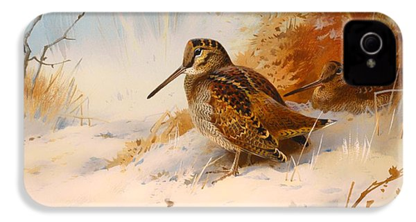 Winter Woodcock IPhone 4 Case by Mountain Dreams
