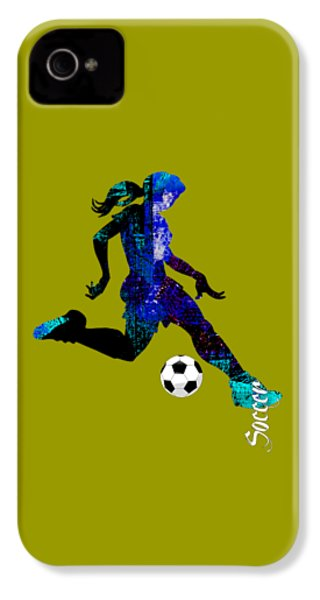 Womens Girls Soccer Collection IPhone 4 Case by Marvin Blaine