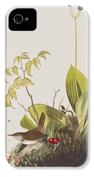 Wood Wren IPhone 4 Case by John James Audubon