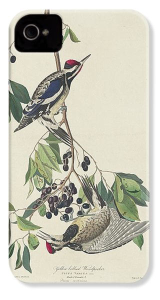 Yellow-bellied Woodpecker IPhone 4 / 4s Case by John James Audubon
