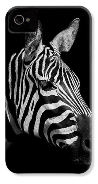 Zebra IPhone 4 Case by Paul Neville