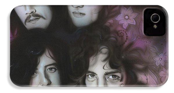 Led Zeppelin - ' Zeppelin ' IPhone 4 Case by Christian Chapman Art