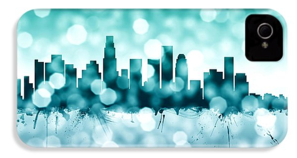Los Angeles California Skyline IPhone 4 Case by Michael Tompsett