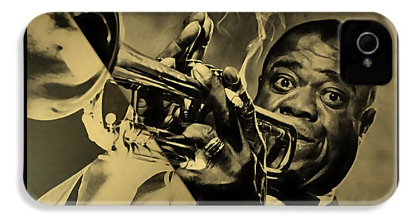 Louis Armstrong Collection IPhone 4 Case by Marvin Blaine
