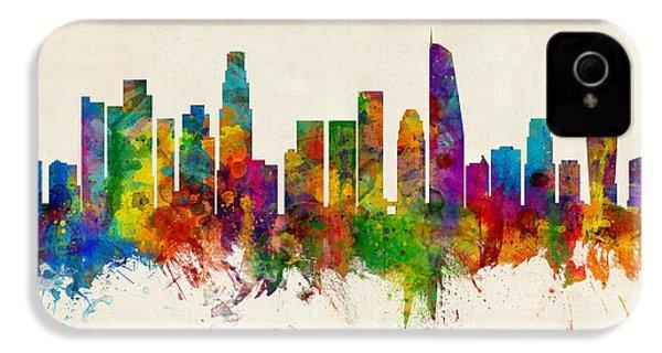 Los Angeles California Skyline IPhone 4 Case by Michael Tompsett