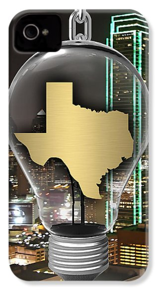 Texas State Map Collection IPhone 4 Case by Marvin Blaine