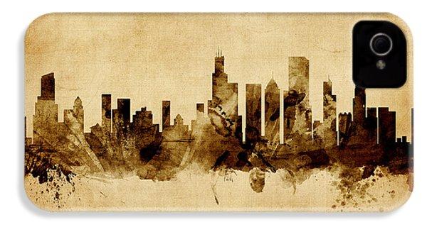 Chicago Illinois Skyline IPhone 4 Case by Michael Tompsett