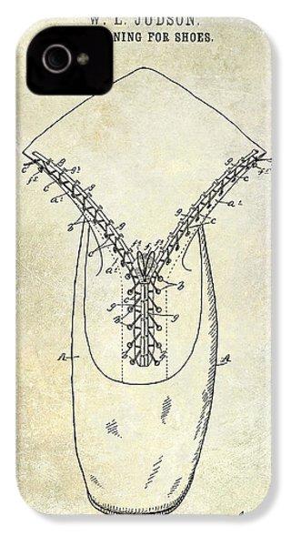 1896 Shoe Patent  IPhone 4 Case