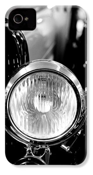 1925 Lincoln Town Car Headlight IPhone 4 Case by Sebastian Musial