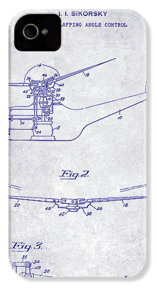 1947 Helicopter Patent Blueprint IPhone 4 Case
