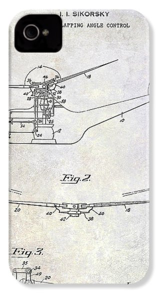 1947 Helicopter Patent IPhone 4 Case by Jon Neidert