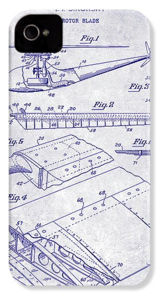 1949 Helicopter Patent Blueprint IPhone 4 Case by Jon Neidert