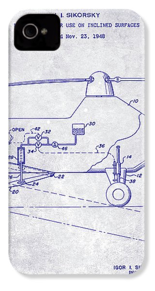 1953 Helicopter Patent Blueprint IPhone 4 Case