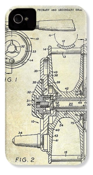 1969 Fly Reel Patent IPhone 4 Case