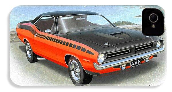 1970 Barracuda Aar  Cuda Classic Muscle Car IPhone 4 Case