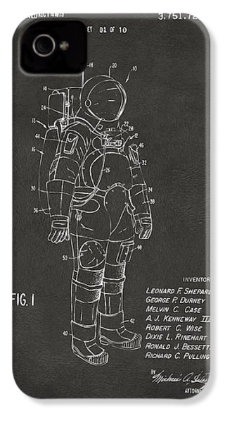1973 Space Suit Patent Inventors Artwork - Gray IPhone 4 / 4s Case by Nikki Marie Smith