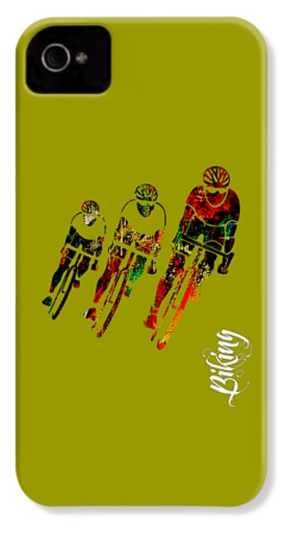 Bike Racing IPhone 4 Case by Marvin Blaine