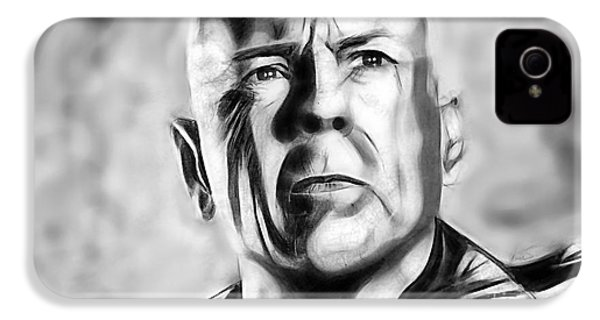 Bruce Willis Collection IPhone 4 / 4s Case by Marvin Blaine