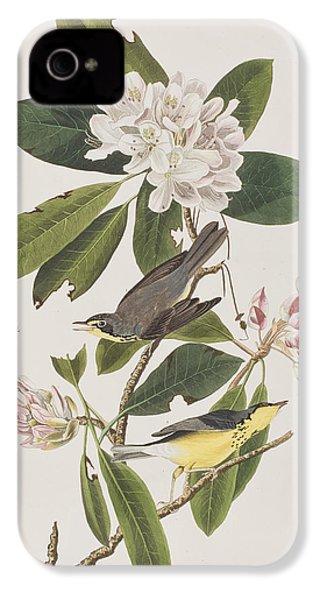 Canada Warbler IPhone 4 / 4s Case by John James Audubon