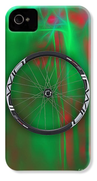 Carbon Fiber Bicycle Wheel Collection IPhone 4 Case