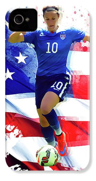 Carli Lloyd IPhone 4 Case by Semih Yurdabak