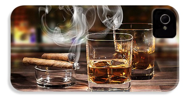 Cigar And Alcohol Collection IPhone 4 / 4s Case by Marvin Blaine