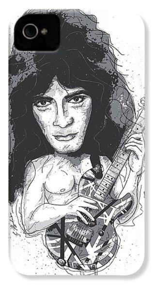 Eddie Van Halen IPhone 4 / 4s Case by Gary Bodnar