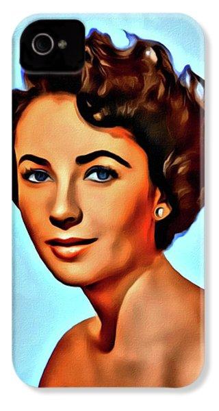 Elizabeth Taylor, Vintage Hollywood Legend IPhone 4 Case by Mary Bassett