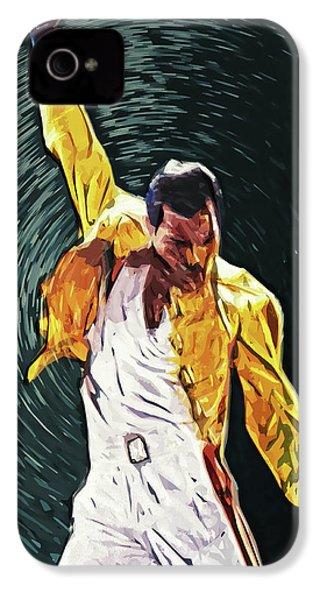 Freddie Mercury IPhone 4 Case by Taylan Apukovska