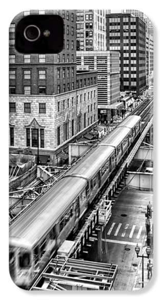 Historic Chicago El Train Black And White IPhone 4 Case by Christopher Arndt