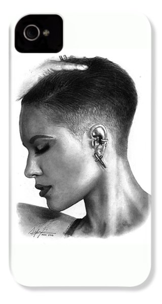Halsey Drawing By Sofia Furniel IPhone 4 Case