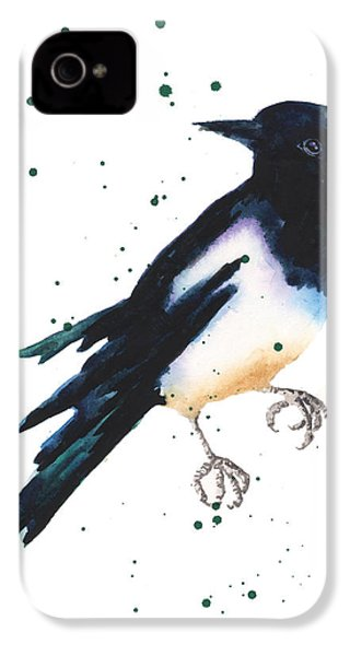 Magpie Painting IPhone 4 Case by Alison Fennell