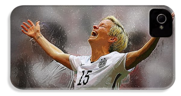 Megan Rapinoe IPhone 4 Case by Semih Yurdabak