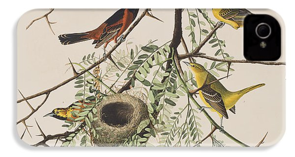 Orchard Oriole IPhone 4 / 4s Case by John James Audubon