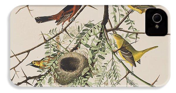 Orchard Oriole IPhone 4 Case by John James Audubon