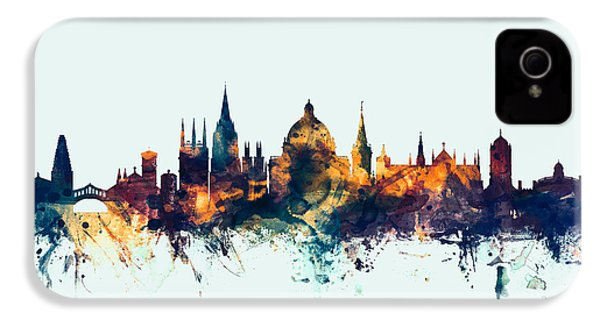 Oxford England Skyline IPhone 4 / 4s Case by Michael Tompsett