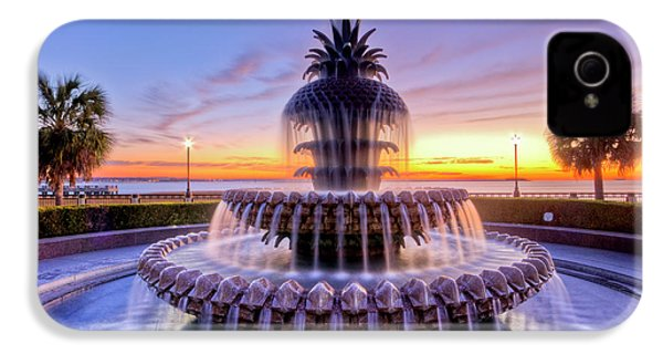 Pineapple Fountain Charleston Sc Sunrise IPhone 4 Case