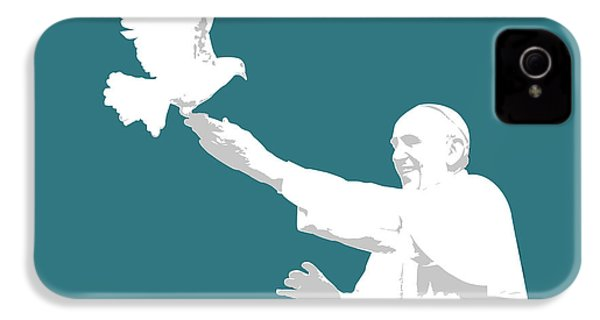 Pope Francis IPhone 4 Case by Greg Joens
