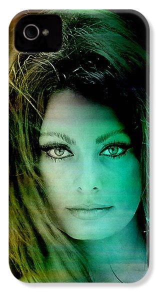 Sophia Loren IPhone 4 Case by Marvin Blaine