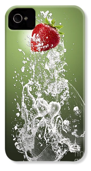 Strawberry Splash IPhone 4 / 4s Case by Marvin Blaine