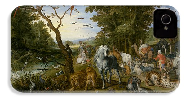 The Entry Of The Animals Into Noah's Ark IPhone 4 Case by Jan Brueghel the Elder