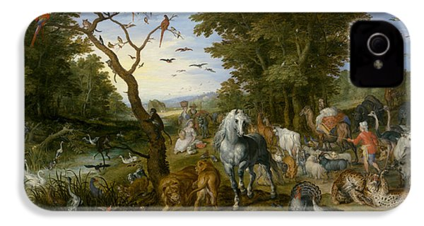 The Entry Of The Animals Into Noah's Ark IPhone 4 / 4s Case by Jan Brueghel the Elder