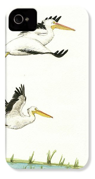 The Fox And The Pelicans IPhone 4 Case by Juan Bosco