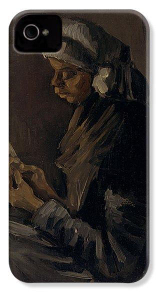 The Potato Peeler, 1885 IPhone 4 Case by Vincent Van Gogh