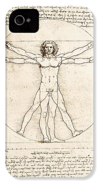 The Proportions Of The Human Figure IPhone 4 Case by Leonardo Da Vinci