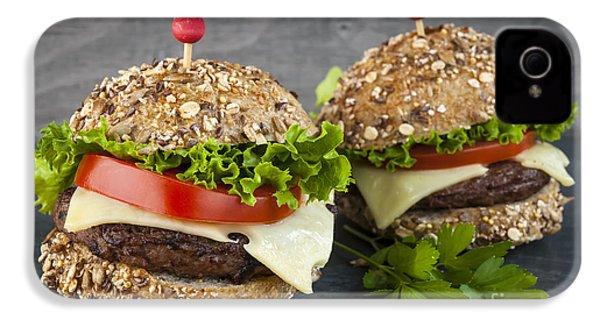 Two Gourmet Hamburgers IPhone 4 / 4s Case by Elena Elisseeva