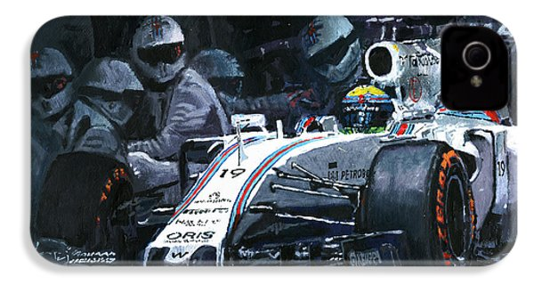 2015 Williams Fw37 F1 Pit Stop Spain Gp Massa  IPhone 4 / 4s Case by Yuriy Shevchuk