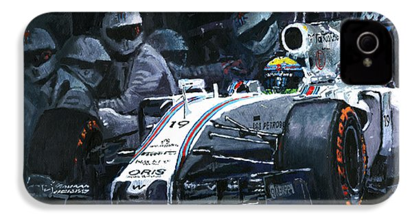 2015 Williams Fw37 F1 Pit Stop Spain Gp Massa  IPhone 4 Case by Yuriy Shevchuk